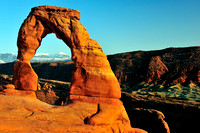 La Salle Mountains through Delicate Arch