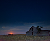 Moonrise in South Dakota